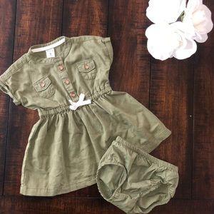 Carters green dress